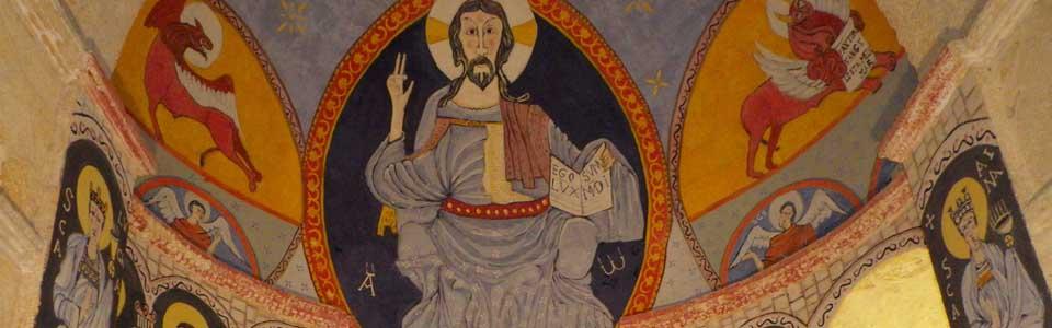 Fresque de l'église Saint Pierre, anciennement Saint Etienne (XIe s.)